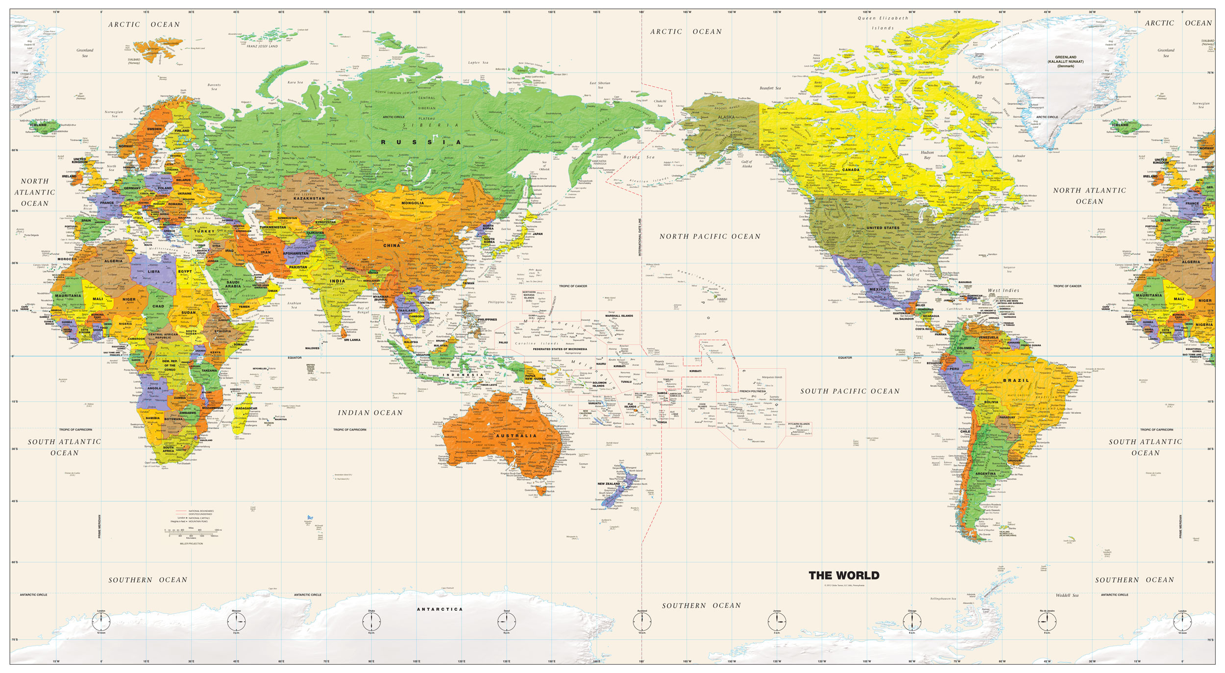 Collection of Diagram World Political Map High Quality - More Maps ...